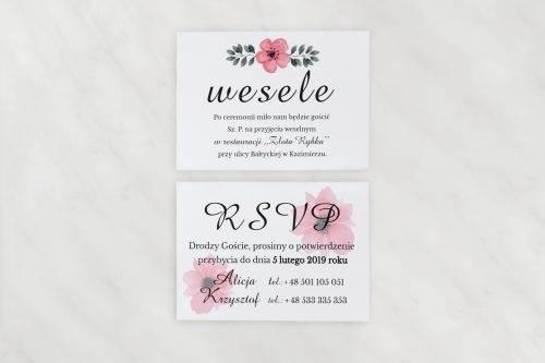 różowe kwiaty karteczki dodatkowe