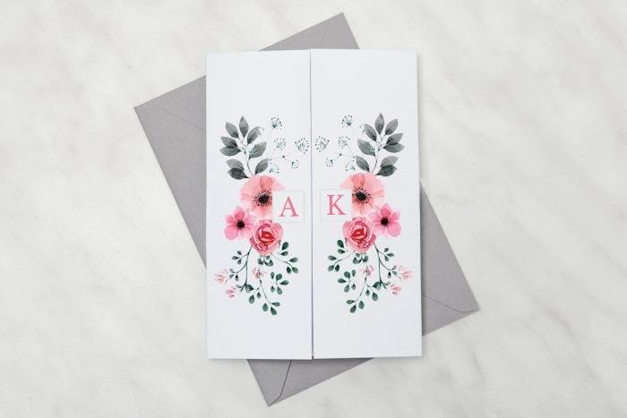zaproszenie-slubne-kwiaty-z-nawami-kwiatuszki-pink-papier-satynowany