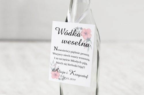zawieszka weselna kwiatuszki pink