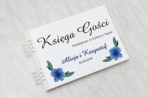 niebieskie kwiaty księga gości