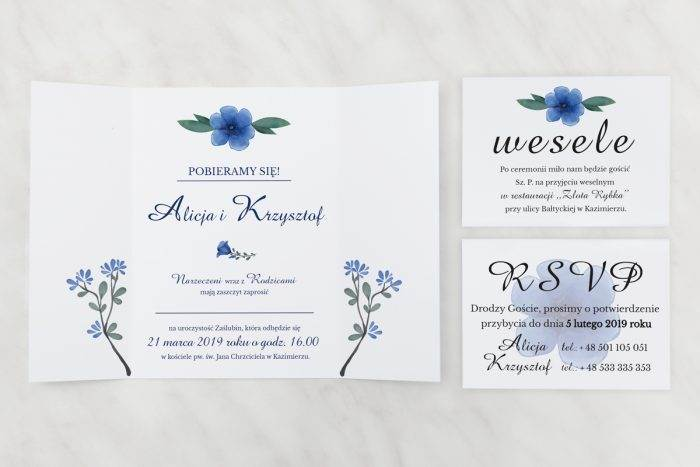 Niebieskie-kwiaty---zaproszenie-z-dwoma-karteczkami