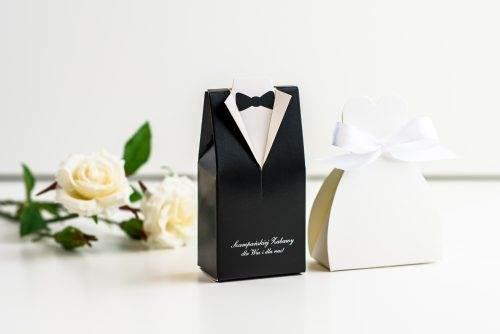 pudełko na podziękowania dla gości weselnych