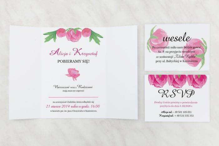 Peonie---Zaproszenie-z-dwoma-karteczkami