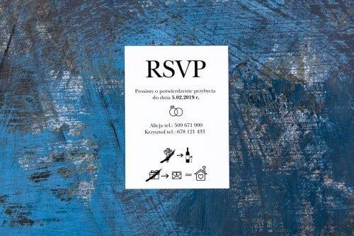 wkładka rsvp do zaproszenia z obrączkami