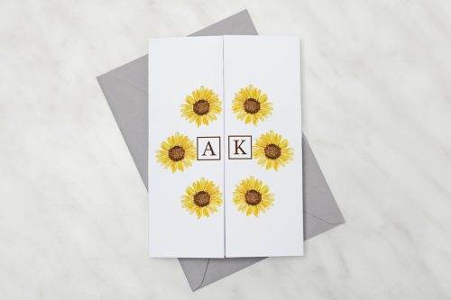 Słoneczniki---Zaproszenie-z-kopertą