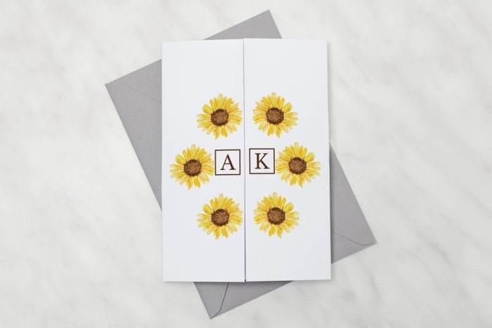 zaproszenie-slubne-kwiaty-z-nawami-sloneczniki-papier-satynowany