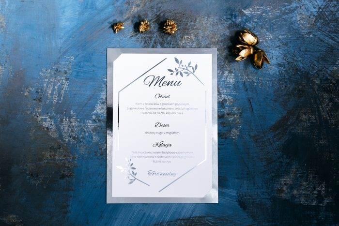 menu-weselne-srebrne-lustro-delikatne-galazki-papier-matowy-podkladki--foliowanie-