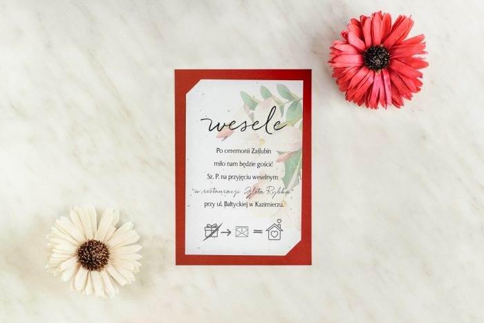 karteczka do zaproszenia ślubnego