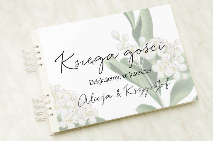 ksiega-gosci-slubnych-biale-kwiaty-wisni-papier-satynowany-dodatki-ksiega-gosci