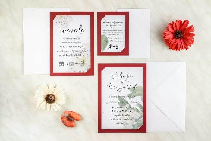 zaproszenie-slubne-burgundowe-kwiaty-wisni-papier-satynowany-podkladki-granatowa-b6-koperta-b6-szara-bez-wklejki