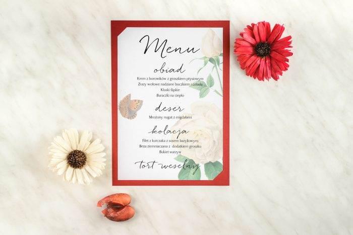 menu-weselne-burgundowe-roza-ecru-podkladki-granatowa-menu-papier-satynowany