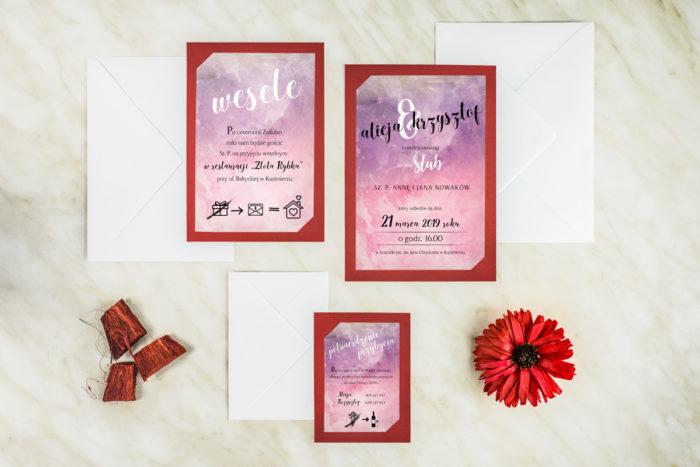 zaproszenie-slubne-burgundowa-rozowe-niebo-papier-satynowany-podkladki-granatowa-b6-koperta-b6-szara-bez-wklejki