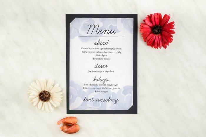 menu-weselne-granatowe-niebieskie-roze-podkladki-granatowa-menu-papier-satynowany