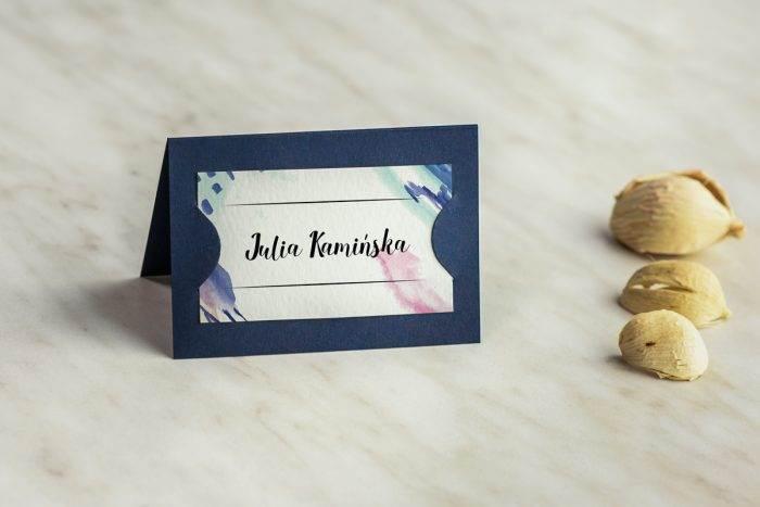 winietka-slubna-do-zaproszenia-granatowe-farby-plakatowe-papier-satynowany-podkladki-granatowa-winietka