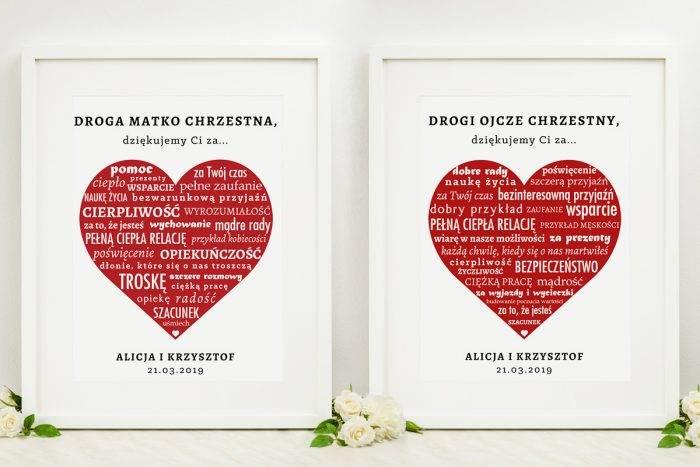 komplet-dwoch-ramek-z-podziekowaniami-dla-chrzestnych-napisy-w-czerwonym-sercu-dodatki-ramka-papier-matowy