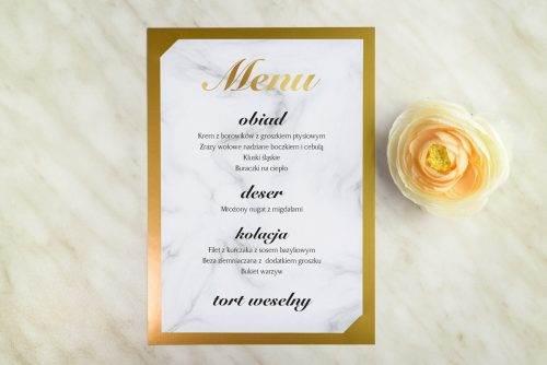 geometryczne menu weselne marmurek