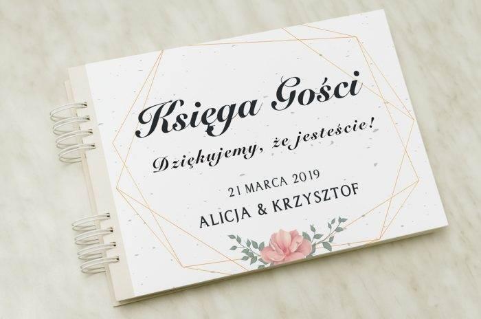 ksiega-gosci-slubnych-roze-geometryczne-papier-matowy-dodatki-ksiega-gosci