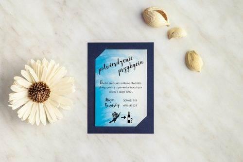 mala karteczka do zaproszenia ślubnego