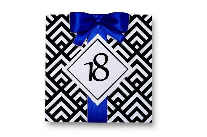 zaproszenie-na-18-urodziny-z-kokarda-niebieskie-papier-matowy-kokarda-na-kleju-