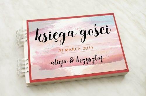 Księga gości ślubnych artystyczne plamy z podkładką