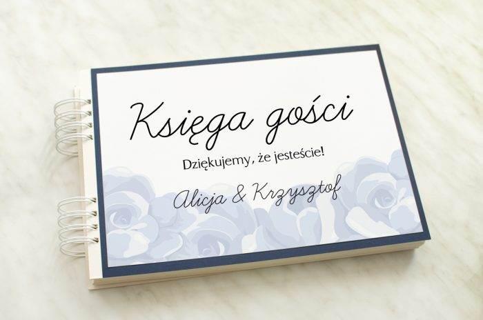 ksiega-gosci-slubnych-z-granatowa-podkladka-niebieskie-roze-papier-satynowany-dodatki--podkladki-