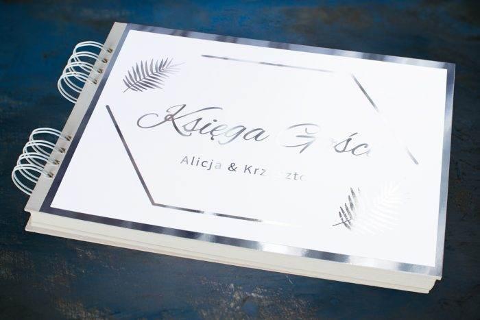 ksiega-gosci-slubnych-srebrne-lustro-liscie-palmowe-papier--dodatki-ksiega-gosci-podkladki-