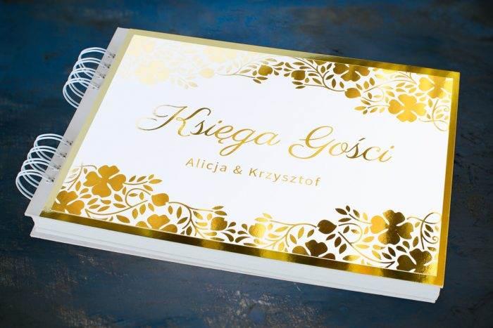 ksiega-gosci-slubnych-zlote-lustro-subtelna-koniczyna-papier--dodatki-ksiega-gosci-podkladki-
