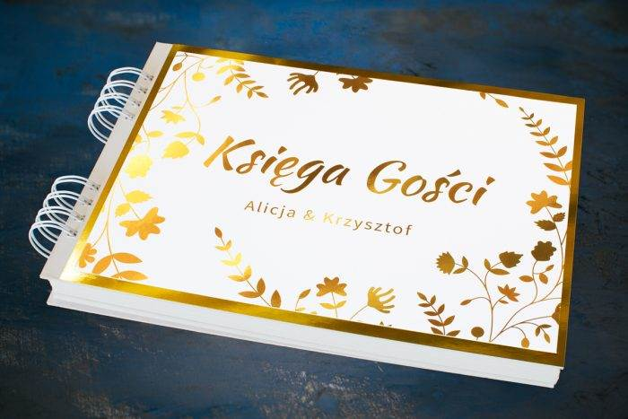 ksiega-gosci-slubnych-zlote-lustro-kwiaty-i-paprocie-papier--dodatki-ksiega-gosci-podkladki-