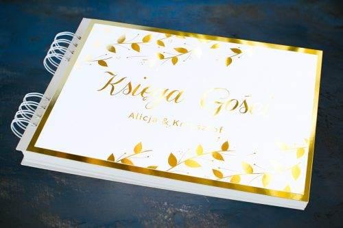 księga gości ślubnych złocona