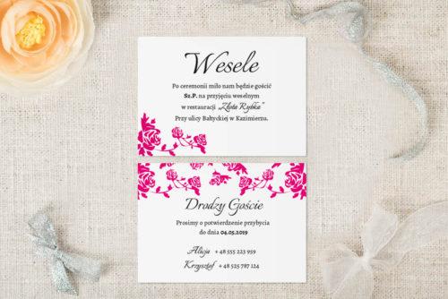 karteczka dodatkowa ornament wzór 1 róż