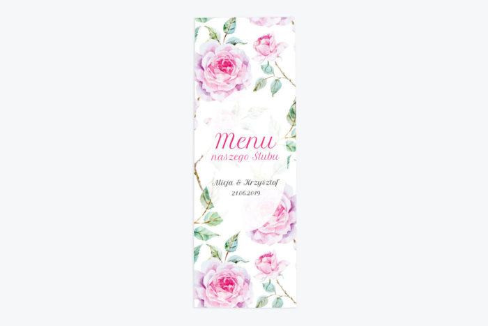 menu-weselne-kwiaty-roze-papier-satynowany