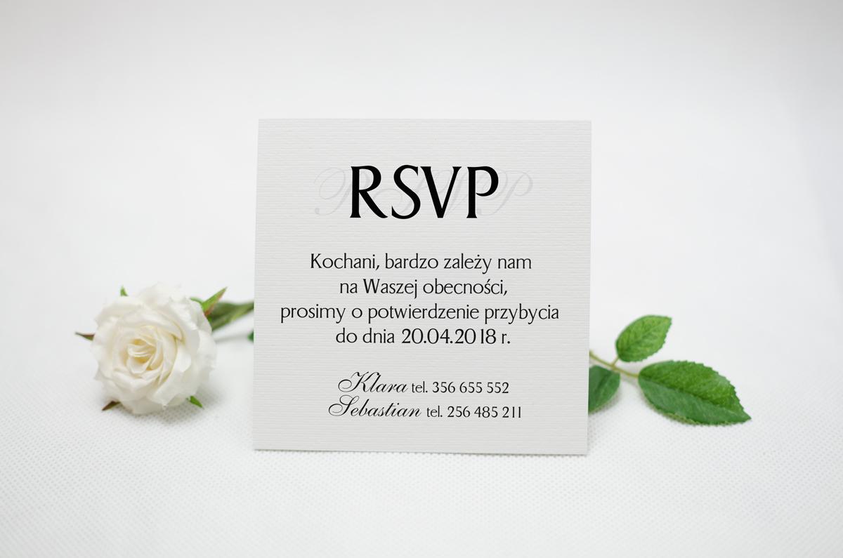 wkładka do zaproszeń ślubnych rsvp