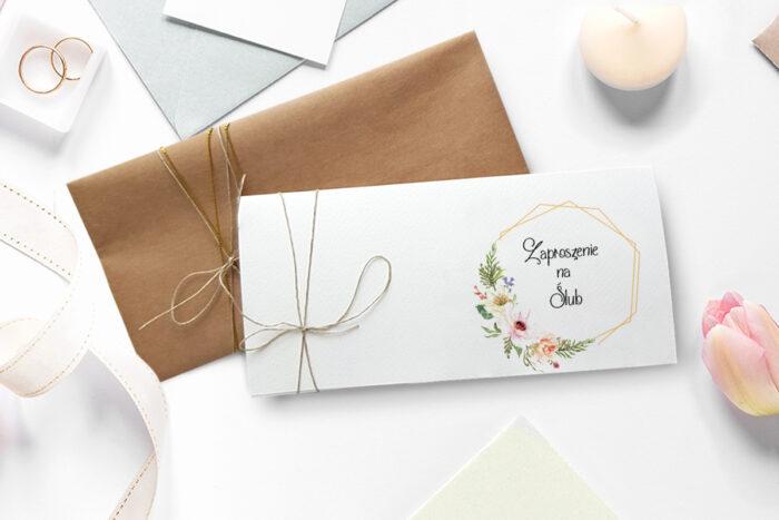 sloneczne-kwiaty-zaproszenie-ze-zdjeciem-i-sznurkiem-dodatki--papier--spinacz--koperta-bez-koperty