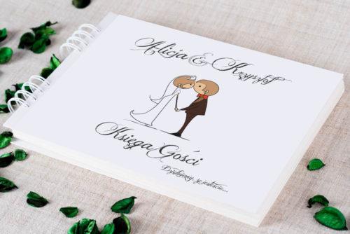 Księga gości ślubnych - Lolki całujące się