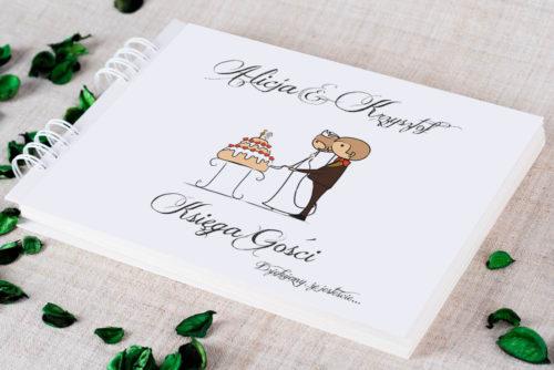 Księga gości ślubnych - Lolki z tortem
