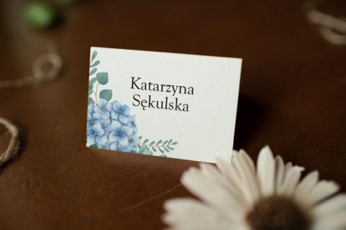 Winietka ślubna - Niebieskie Hortensje
