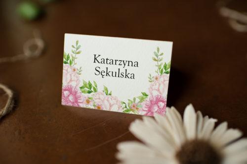 Winietka ślubna - Pastelowe Kwiaty W Różu
