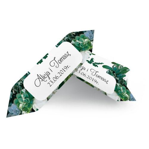 Krówki ślubne 1 kg - Zielone Sukulenty