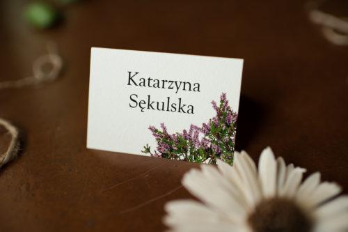 Winietka ślubna - Wrzosowy Akcent
