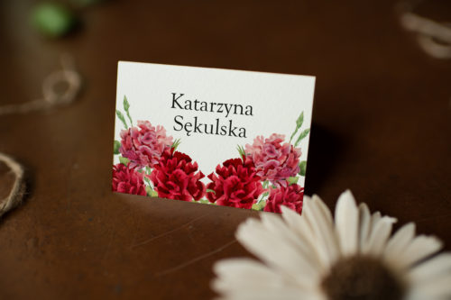 Winietka ślubna - Czerwone Goździki