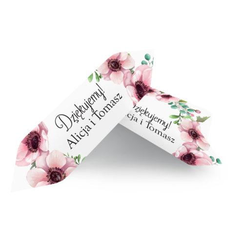 Krówki ślubne 1 kg - Pastelowe kwiaty