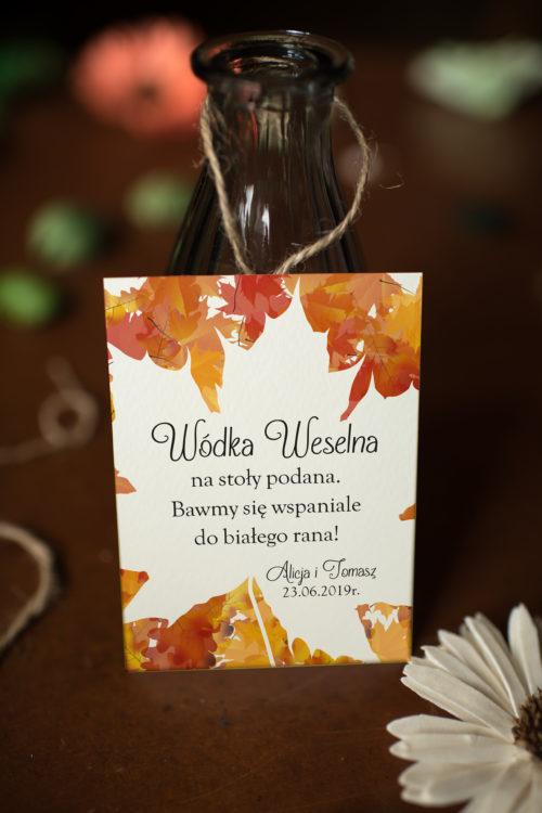 Zawieszka ślubna na alkohol - Jesienny Ślub