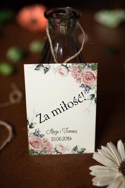 Zawieszka ślubna na alkohol - Pastelove W Różu