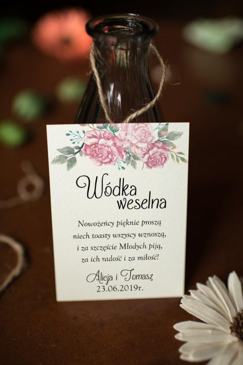 Zawieszka ślubna na alkohol - Zrównoważona Kompozycja