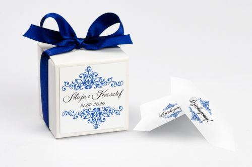 Pudełeczko z personalizacją - 3d Niebieskie