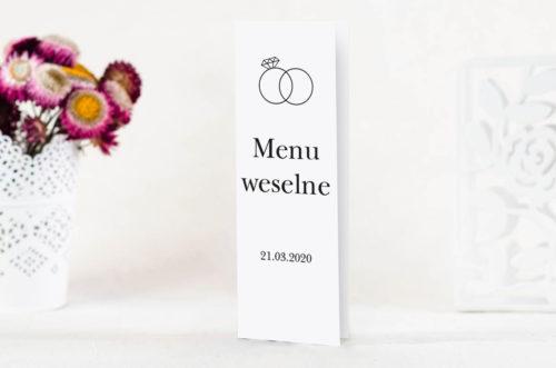 menu weselne - złote obrączki