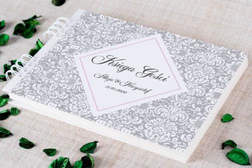 Księga gości ślubnych do zaproszenia: Rustykalne z kokardą