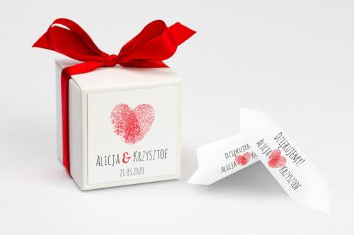 Pudełeczko z personalizacją Eko z motywem serca