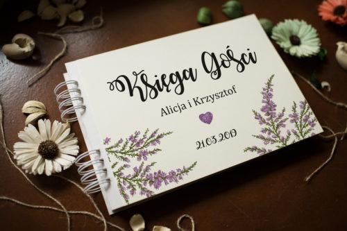 Księga gości ślubnych Kwiaty - Wrzosy