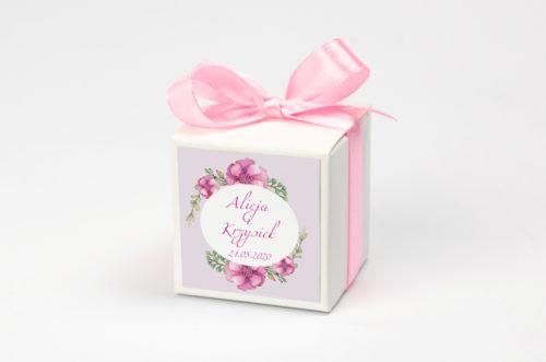 Pudełeczko z personalizacją - Kwiaty: piwonie